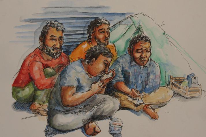 syrians shaving